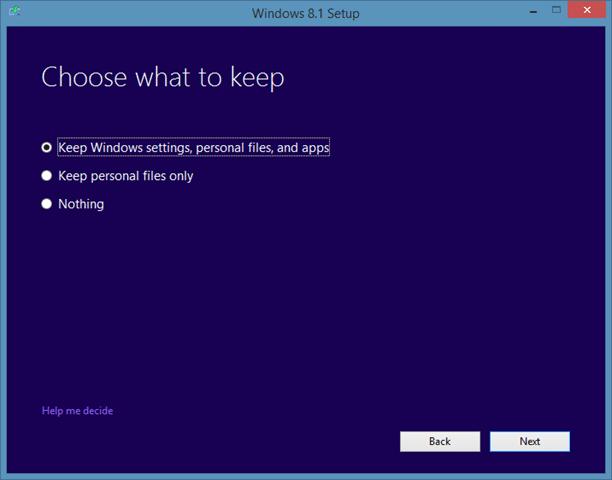 Repair Windows 8.1 installation Step5