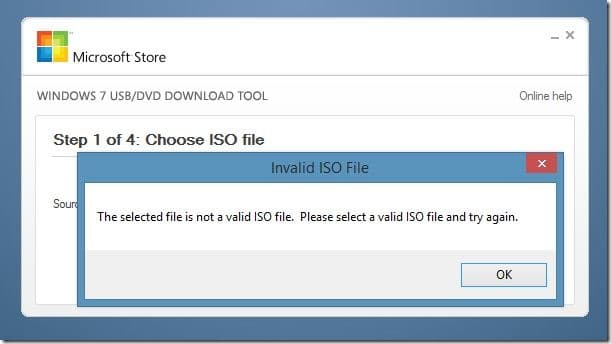 Selected File isn't ISO