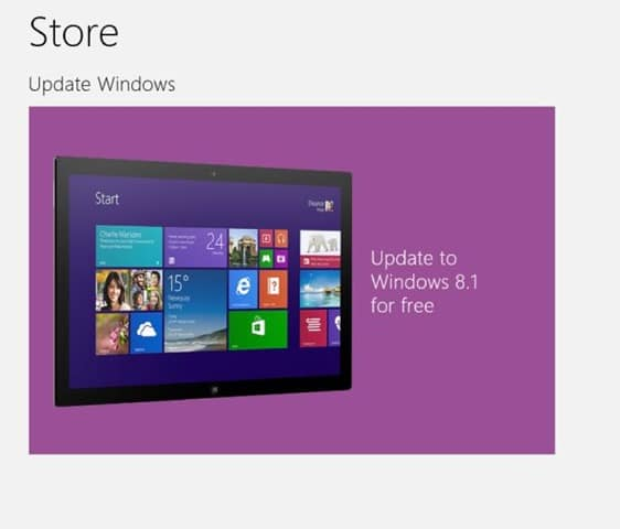 Upgrade to Windows 8.1 for free