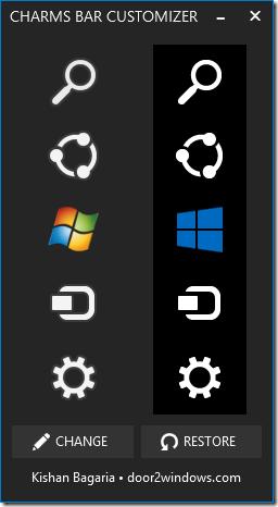 Change Charms Bar Icons