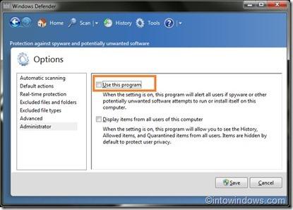 Remove or uninstall Windows Defender
