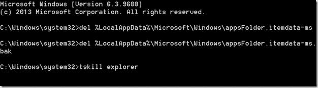 Reset Start Screen in Windows 8.1