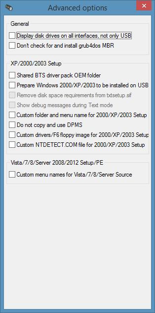 WinSetupFromUSB free for Windows 7 8.1