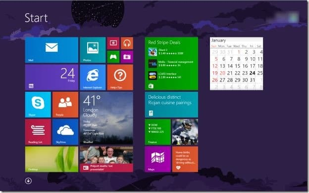 Access Start Screen Using Mouse Gesture in Windows 8 and 8.1