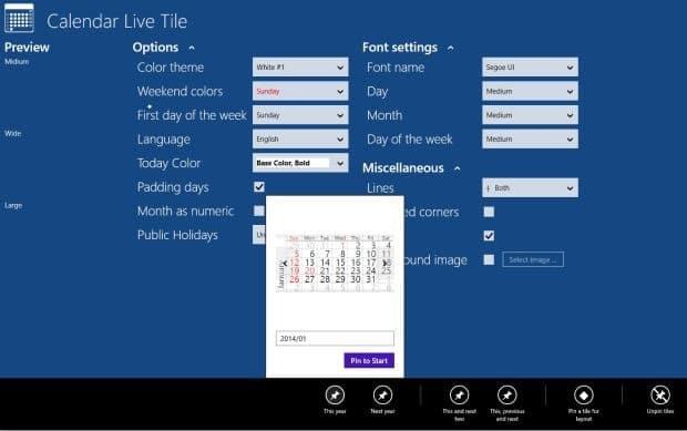 Live Calendar Tile App Adds Live Calendar To Start Screen In