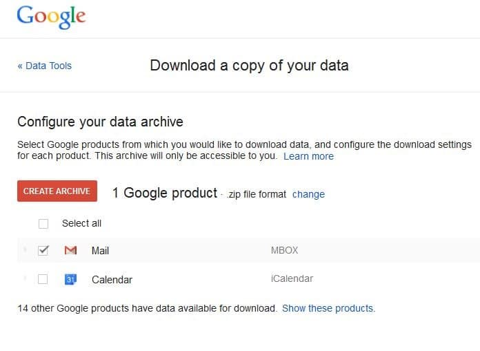 gmail download mail