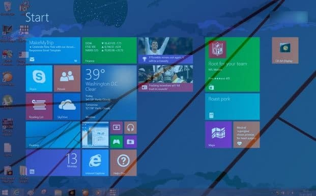 Make Start screen transparent in Windows 8.1 picture1