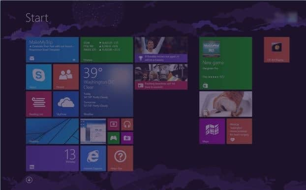 Make Start screen transparent in Windows 8.1