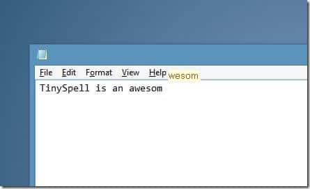 Spell checker for Noteapad and Wordpad Picture1