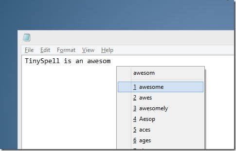 Spell checker for Noteapad and Wordpad Picture2
