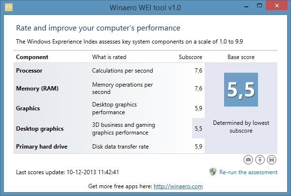 WinAero-WEI-Tool