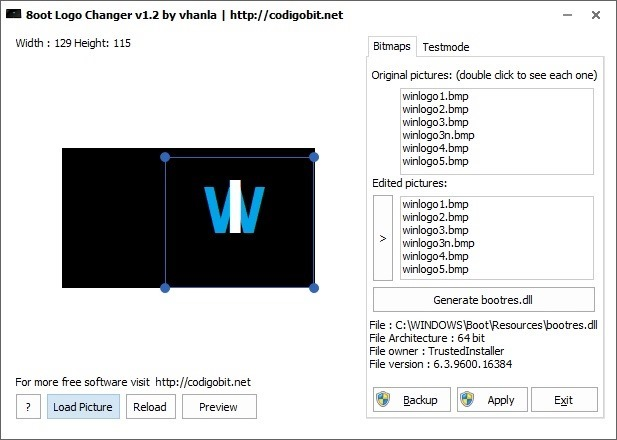 Windows 8.1 Boot Screen Logo Changer