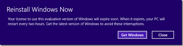Windows 8.1 Preview Expires