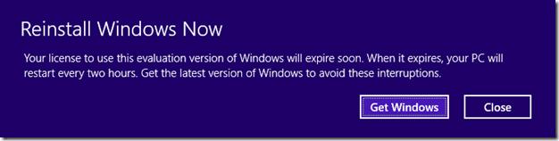 Windows 8.1 Preview Expires