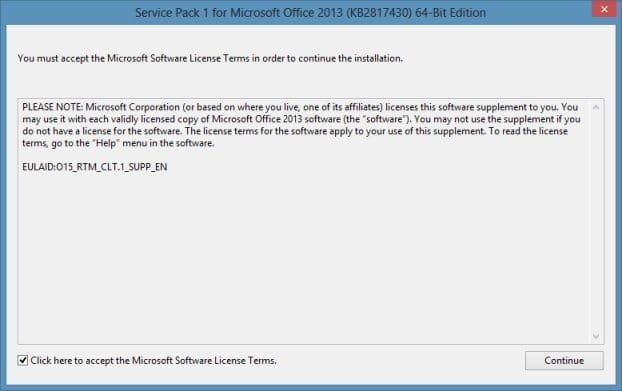 Office 2013 SP1