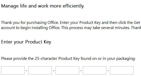 office 2013 via product key