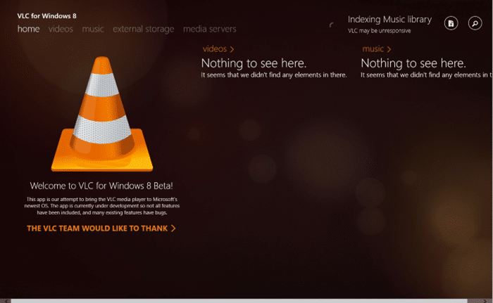VLC for Windows 8 and 8.1 free download