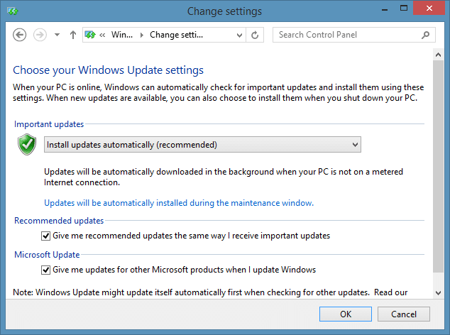 Can't see Windows 8.1 Update in Windows Update