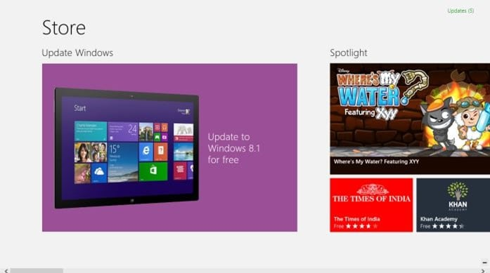 Direct Upgrade from Windows 8 to Windows 8.1 Update step2
