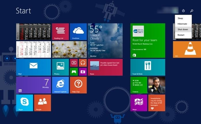 Uninstalling Windows 8.1 Update