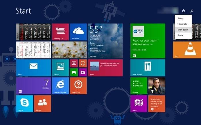 Uninstalling Windows 8.1 Update
