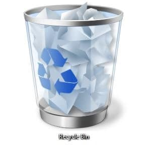 how to show trash bin on windows 10