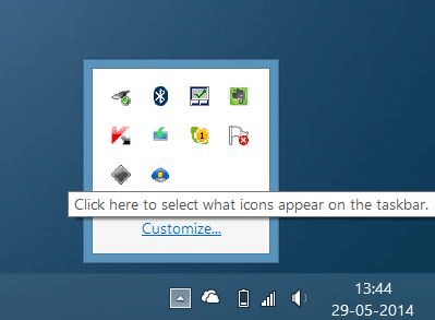 Boot Camp Icon missing from taskbar system tray step01