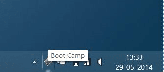 Boot Camp Icon missing from taskbar system tray step