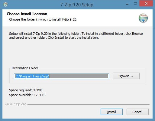 Extract or open RAR files in Windows using 7zip step3