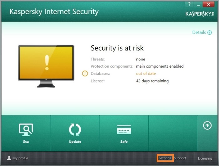Fix kaspersky update issues picture