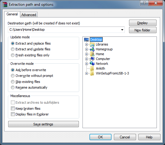 Open or extract RAR file in Windows using WinRAR picture1