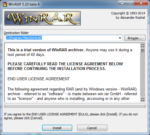 Open or extract RAR file in Windows using WinRAR picture2