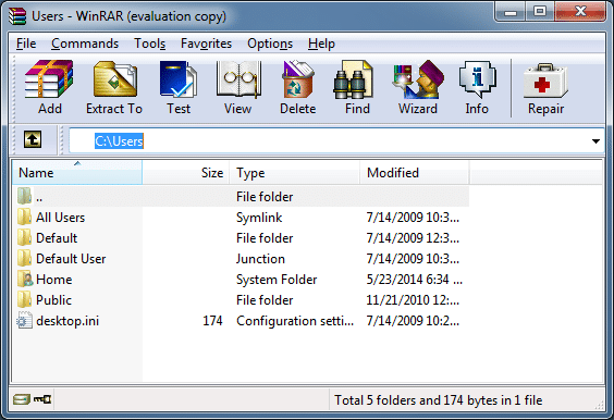 Remove unnecessary WinRAR items from context menu step1