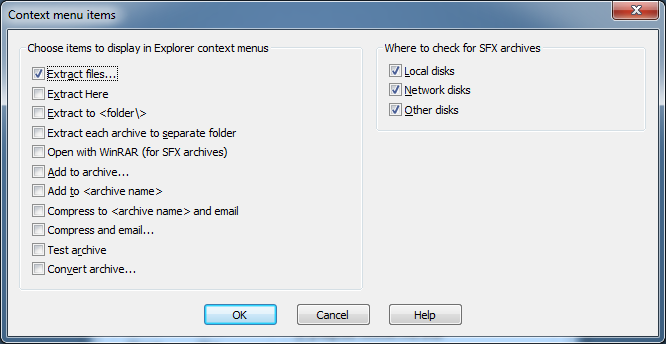 Remove unnecessary WinRAR items from context menu step4