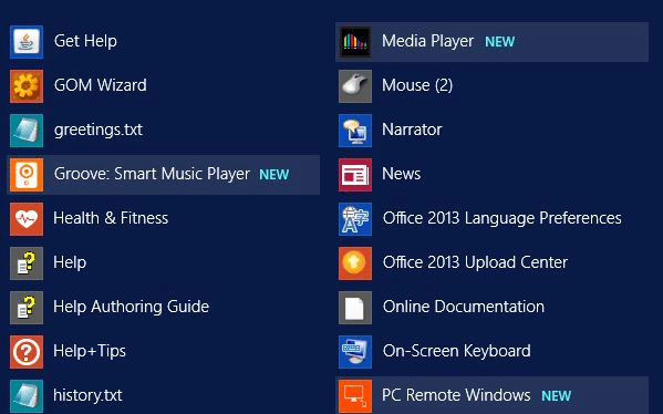 Stop Windows 8.1 from highlighting newly installed apps in Apps screen picture01