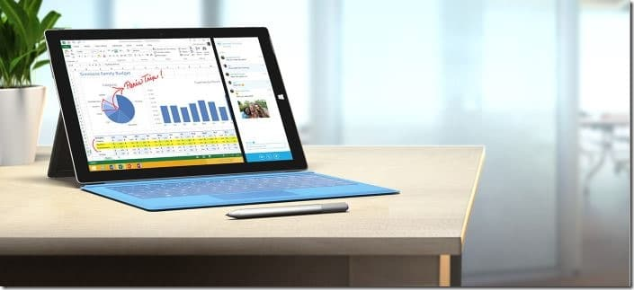 Surface Pro 3 vs 2 specs comparision