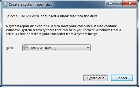 create windows 7 repair usb drive step2