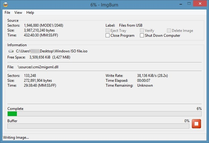 Create bootable Window ISO from USB step9