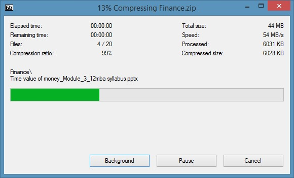 Create zip file with password in Windows 7 Windows 8 Step3