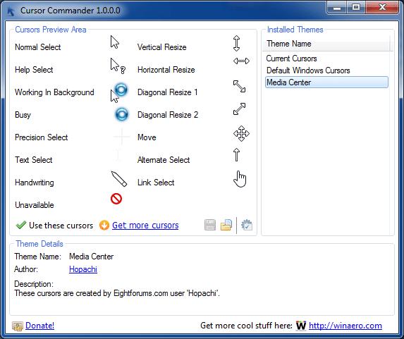 Cursor Commander to customize cursors[5]