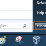 How To Make Hibernate Default In Windows 7 Start Menu