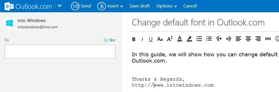 how to use a different font in gmail