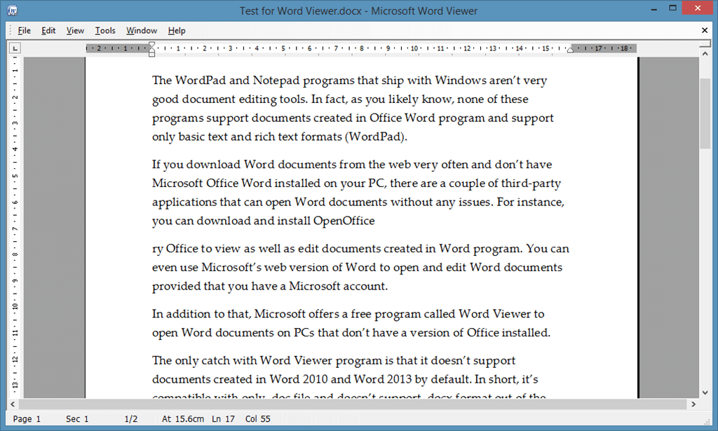 Download microsoft word viewer - Office open xml format or open document format ...
