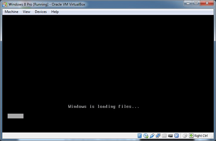 boot and install from ISO VirtualBox Step01