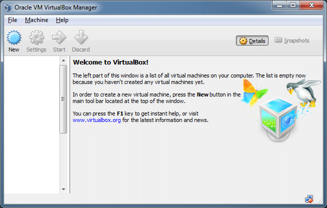 boot and install from ISO VirtualBox Step1