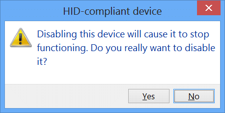 disable touch input windows 8