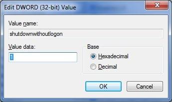 fix shut down button is missing from logon screen Windows 7 step7
