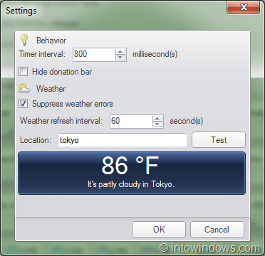 Change window color time of the day, temparature, and battery level
