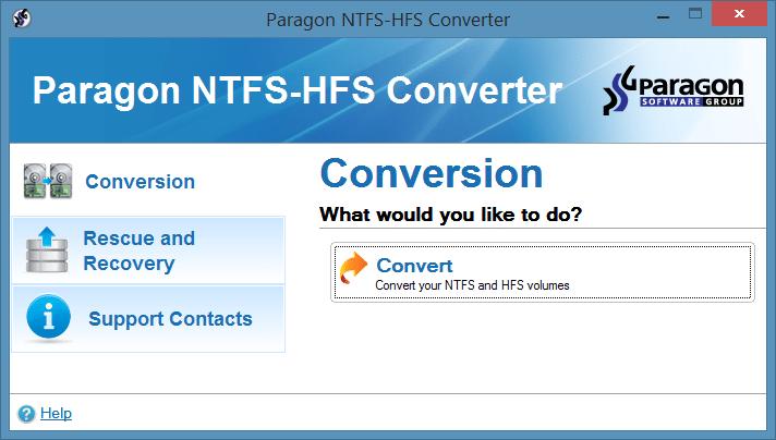convert hfs to ntfs windows 7