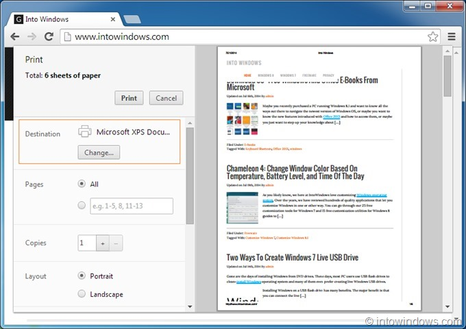 Save webpage as PDF in Chrome step2